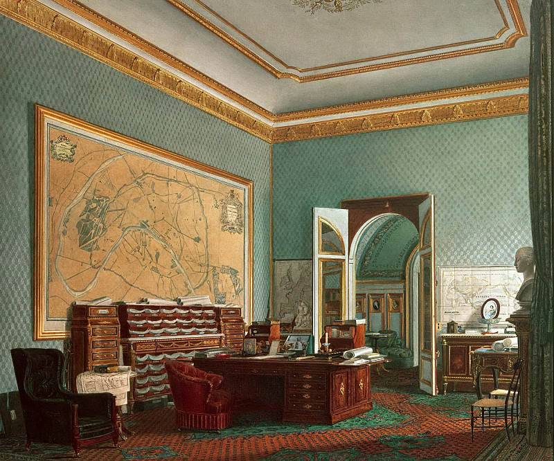 Фурнье, Фортюн де (1798-1864) -- Кабинет Наполеона III в Тюильри. Part 6 Louvre