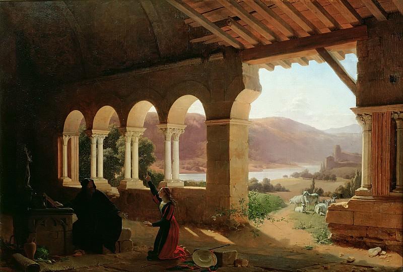 Ришар, Флери-Франсуа (1777 Лион - 1852 Экюйи) -- Собеседование о миссии Жанны Дарк с отшельником в Вокулере. Part 6 Louvre