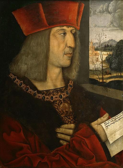 Штригель, Бернхард (Мемминген 1460-1528), копия утраченного оригинала -- Император Максимилиан I. часть 6 Лувр