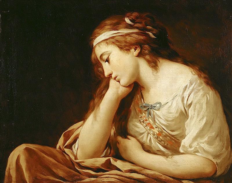 Лагрене, Луи-Жан-Франсуа (Париж 1725-1805) -- Меланхолия. часть 6 Лувр
