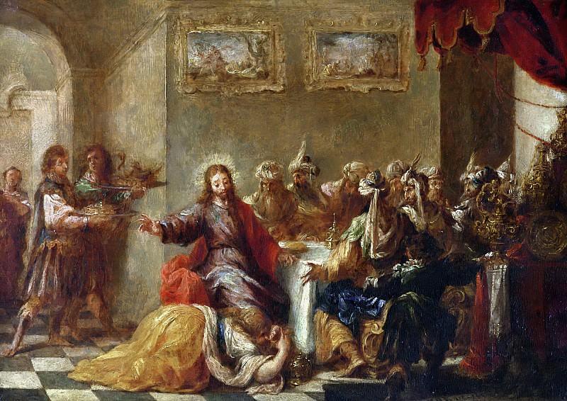 Вальдес Леаль, Хуан де (Севилья 1622-1690) -- Христос в доме Симона Фарисея. часть 6 Лувр