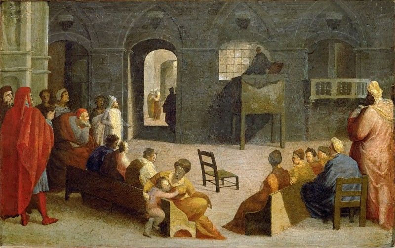 Domenico Beccafumi (1486-1551) -- Sermon of Saint Bernard of Siena. Part 6 Louvre