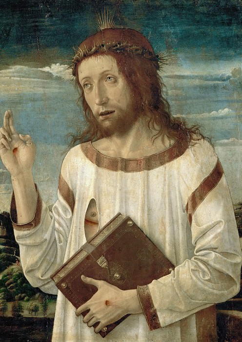 Giovanni Bellini (c.1433-1516) -- Christ Blessing. Part 6 Louvre