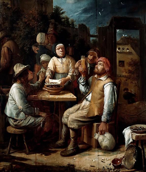 Красбек, Йос ван (c.1605 Нерлинтер - 1662 Брюссель) -- Едоки мидий. Part 6 Louvre