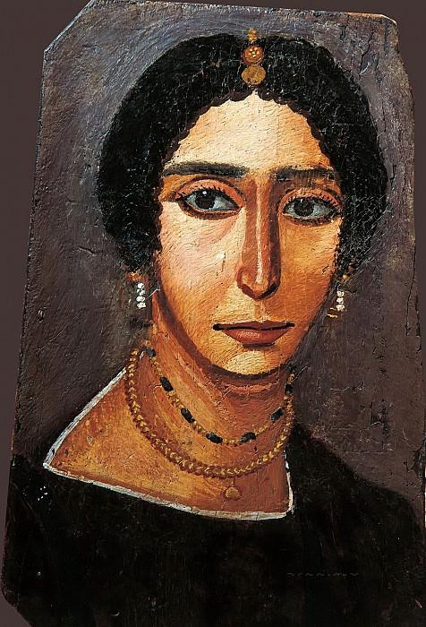 Египет (4 век) -- Женский портрет. Part 6 Louvre