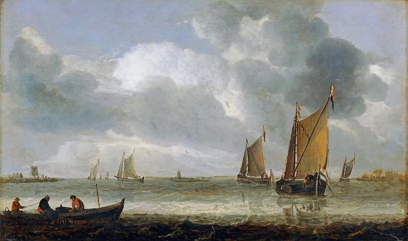 Abraham van Beveren (1620-1690) -- Marine Scene (La Marine d'Argent). Part 6 Louvre