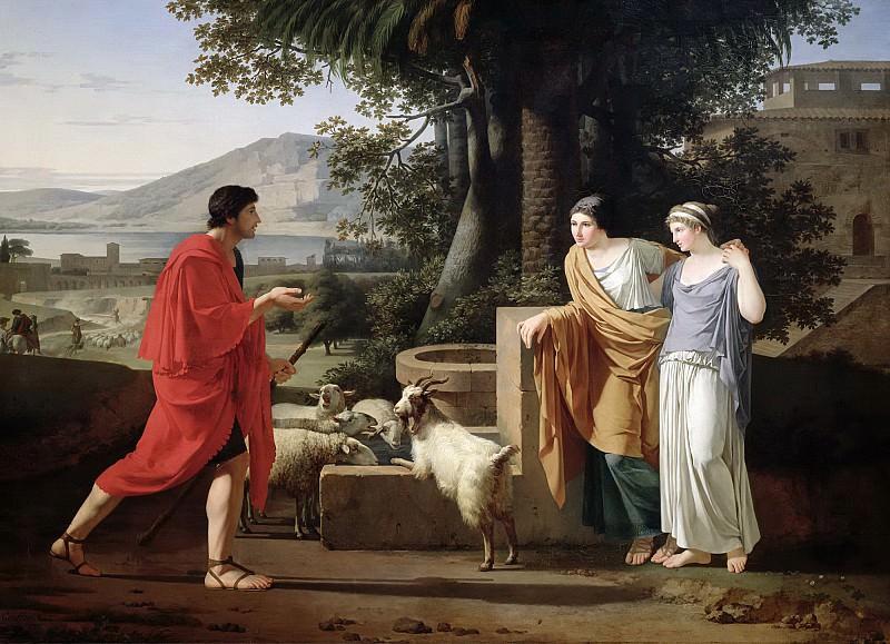 Гоффье, Луи (1761 Ла Рошель - 1801 Флоренция) -- Иаков и дочери Лавана. Part 6 Louvre