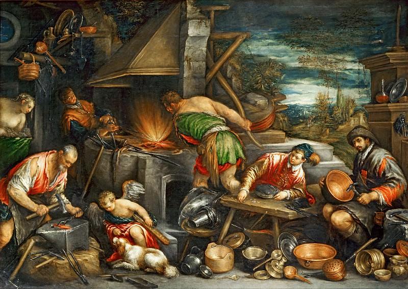 Бассано, Франческо (1549 Бассано, - 1592 Венеция) -- Кузница Вулкана. часть 6 Лувр