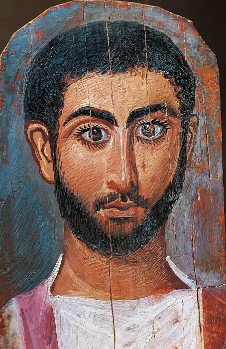 Египет, Фивы (3 век) -- Мужской портрет. Part 6 Louvre