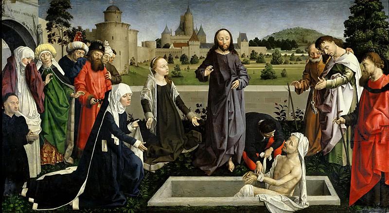 Дипр, Никола (Колен д Амьен) (работал в Париже ок1461-88) -- Воскрешение Лазаря, фрагмент. часть 6 Лувр