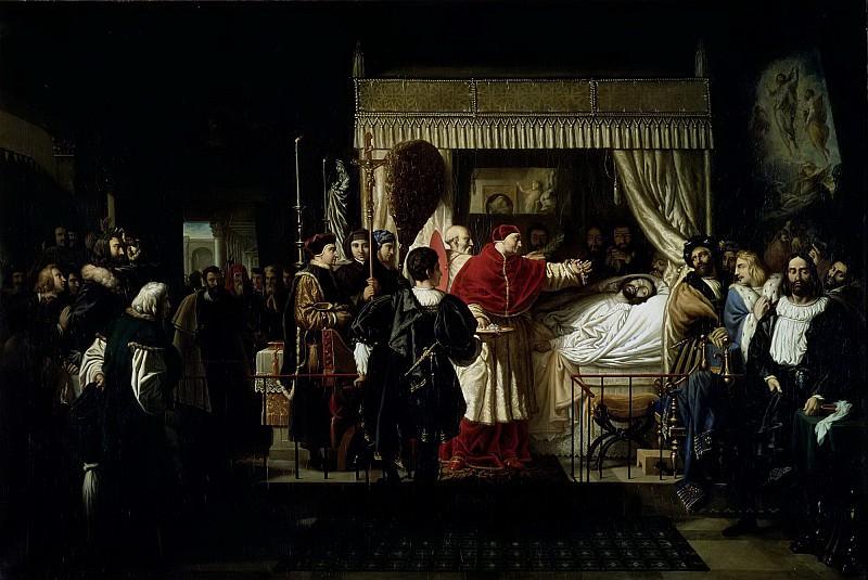Бержере, Пьер-Ноласк (1782 Бордо - 1863 Париж) -- Отдание почестей Рафаэлю после его смерти. часть 6 Лувр