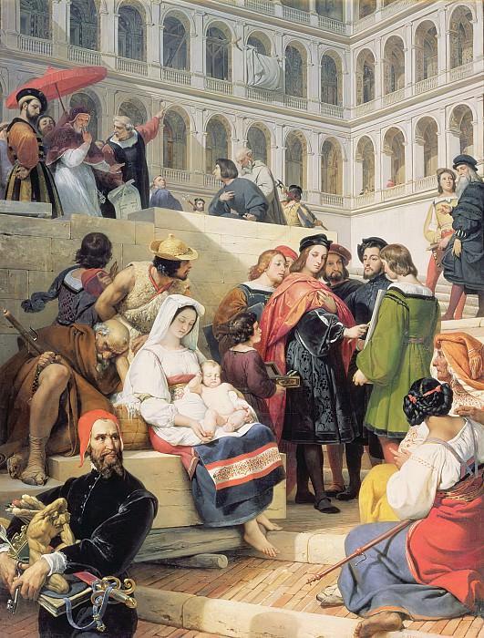 Верне, Эмиль-Жан-Орас (Париж 1789-1863) -- Рафаэль в Ватикане. часть 6 Лувр