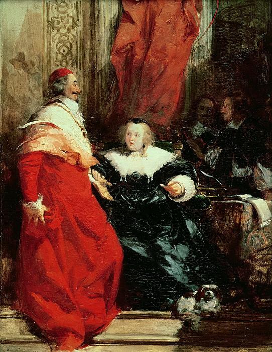 Бонингтон, Ричард Паркс (1802 Арнольд - 1828 Лондон) -- Королева Анна Австрийская и кардинал Мазарини. Part 6 Louvre