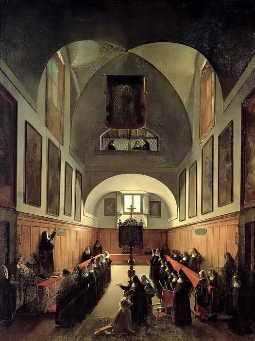 Гране, Франсуа-Мариус (Экс-ан-Прованс 1775-1849) -- Обряд инициации новиция из Альбано в хорах монастыря святой Клары в Риме. Part 6 Louvre