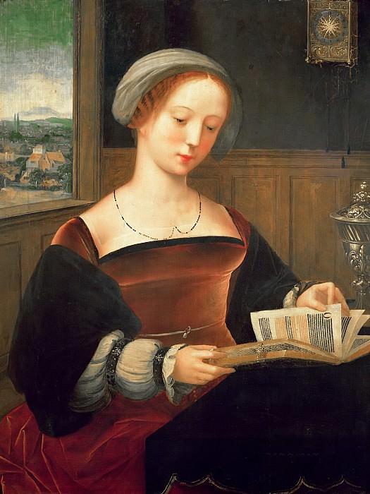 Мастер женских полуфигур (работал в Антверпене c.1530-60) -- Читающая Мария Магдалина. Part 6 Louvre