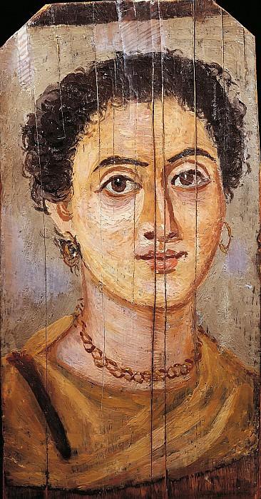 Египет (1-2 век) -- Женский портрет. Part 6 Louvre