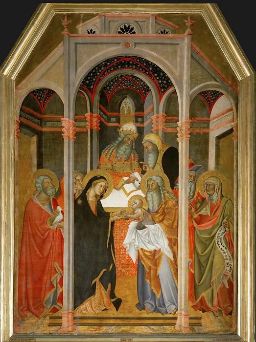 Bartolo di Fredi (active 1353-1410) -- Presentation of Christ in the Temple. Part 6 Louvre