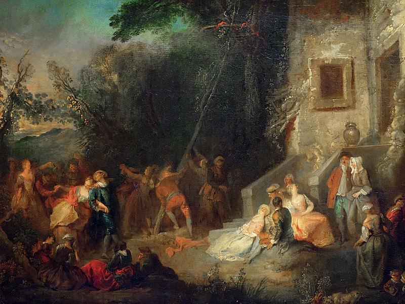 Кийяр, Пьер-Антуан (1701 Париж - 1733 Лиссабон) -- Установка майского дерева. Part 6 Louvre