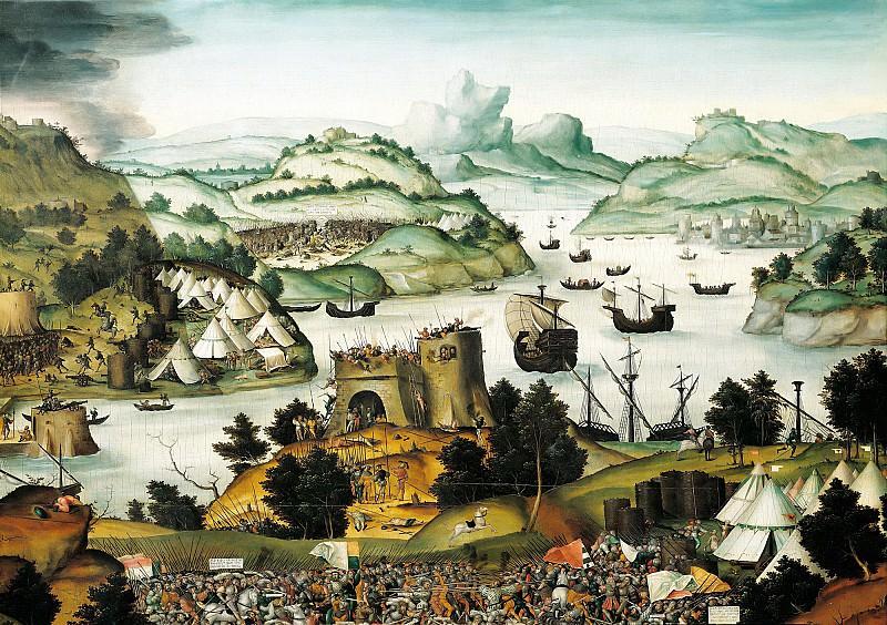 Герунг, Матиас (c.1500 Нердлинген - 1568-70 Лауинг) -- Разрушение Трои и суд Париса, фрагмент - Осада. Part 6 Louvre