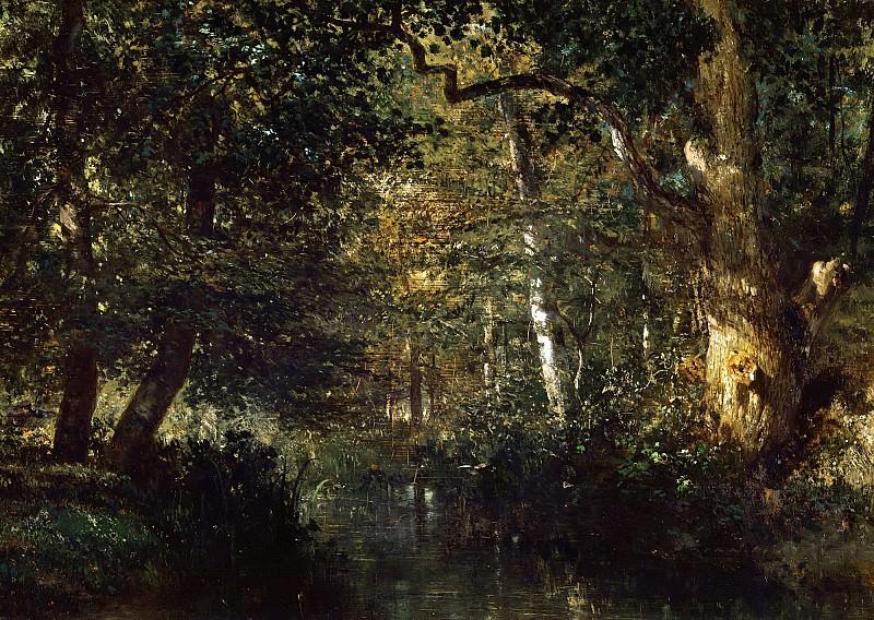 Труайон, Констан (1810 Севр - 1865 Париж) -- Ручей в лесу. часть 6 Лувр