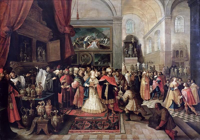 Франкен, Франс II (Антверпен 1581-1642) -- Соломон у храмовой казны. часть 6 Лувр