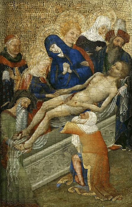 Французская школа (15 век) -- Погребение Христа. Part 6 Louvre