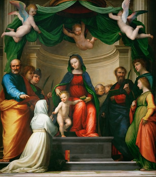 Fra Bartolomeo (1472-1517) -- Mystic Marriage of Saint Catherine of Siena. Part 6 Louvre