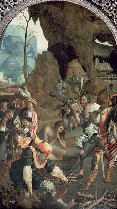 Мастер легенды Иоанна Евангелиста (работал c.1520-30) -- Мученичество Иоанна Евангелиста. Part 6 Louvre