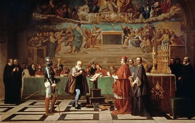 Робер-Флери, Жозеф-Никола (1797 Кельн - 1890 Париж) -- Галилей перед членами конгрегации доктрины веры в Ватикане в 1633 году. часть 6 Лувр