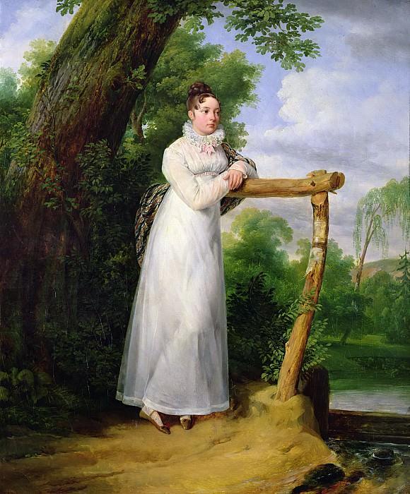Верне, Эмиль-Жан-Орас (Париж 1789-1863) -- Портрет мадам Филиппы Ленуар (1792-1874). Part 6 Louvre