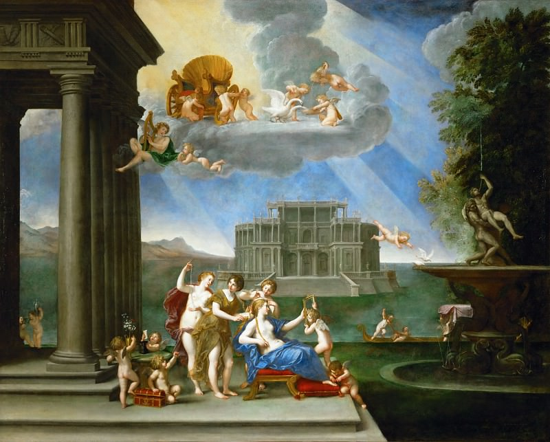 Албани, Франческо (Болонья 1578-1660) -- Туалет Венеры. часть 6 Лувр