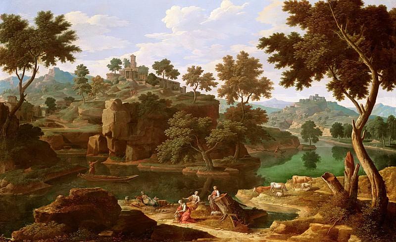 Аллегрен, Этьен (Париж 1644-1736) -- Пейзаж с рекой. Part 6 Louvre