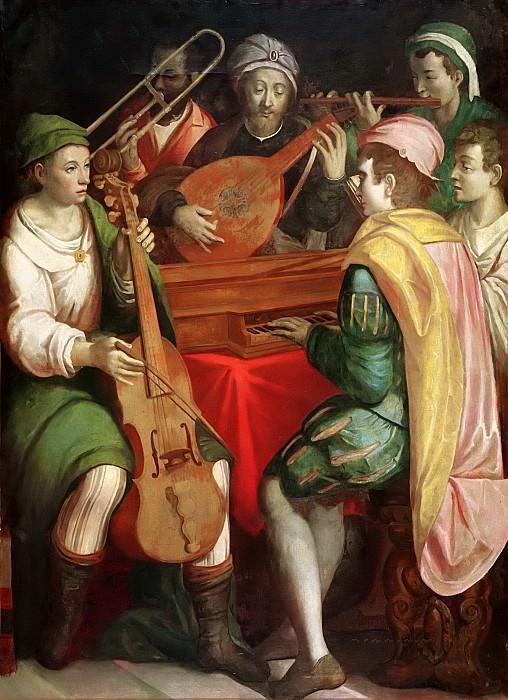 Флорентийская школа (17 век) -- Концерт. Part 6 Louvre