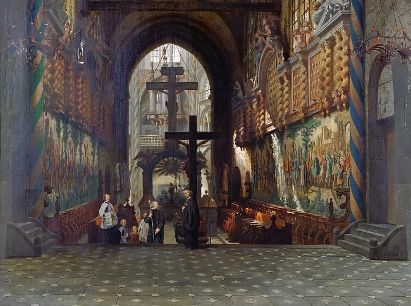 Доза, Адриан (1804 Бордо - 1868 Париж) -- Интерьер церкви святого Геро в Кельне. Part 6 Louvre