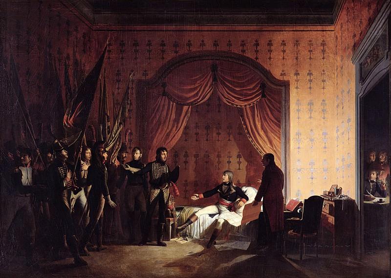 Роан, Адольф-Эжен-Габриэль (1780-1867) -- Наполеону приносят австрийские и сардинские флаги в Миллезимо после сражения при Монтенотте. Part 6 Louvre