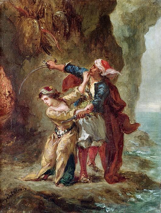Делакруа, Эжен (1798 Шарантон-Сен-Морис - 1863 Париж) -- Абидосская невеста (по поэме Байрона). Part 6 Louvre