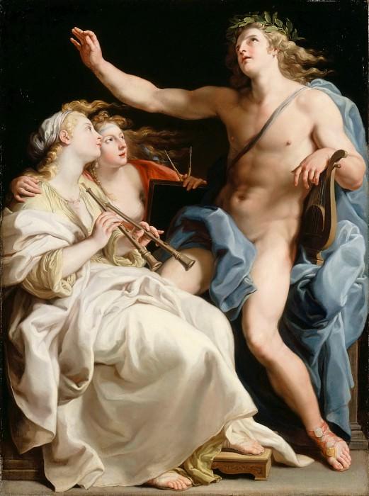 Pompeo Batoni -- Apollo, Music and Meter (Apollon, la Musique et la métrique). Part 6 Louvre