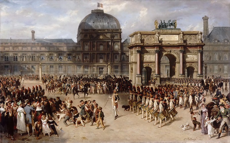 Hippolyte Bellangé and Adrien Dauzats -- A Day of Review under the Empire in 1810 (Un jour de revue sous l'Empire). Part 6 Louvre