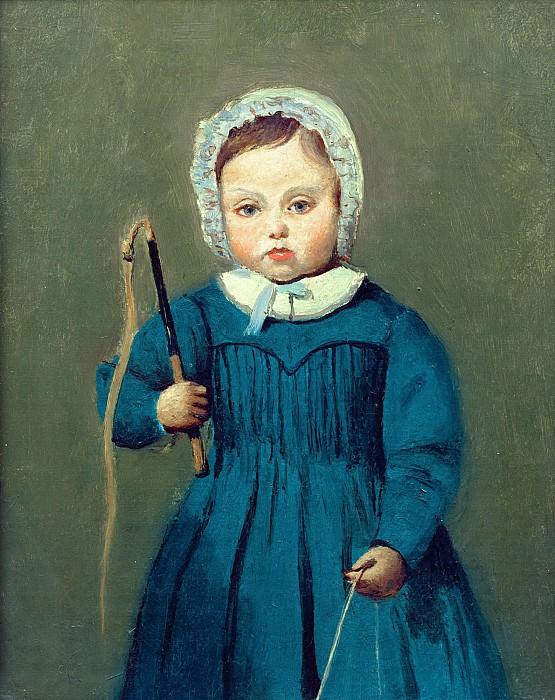 Коро, Жан-Батист-Камиль (Париж 1796-1875) -- Луи Робер в детстве. Part 6 Louvre