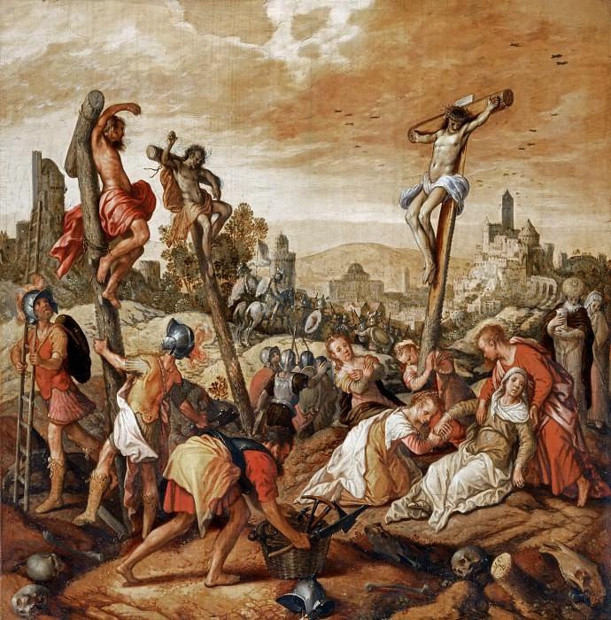 Joachim Beuckelaer (c. 1533-1574) -- Crucifixion. Part 6 Louvre
