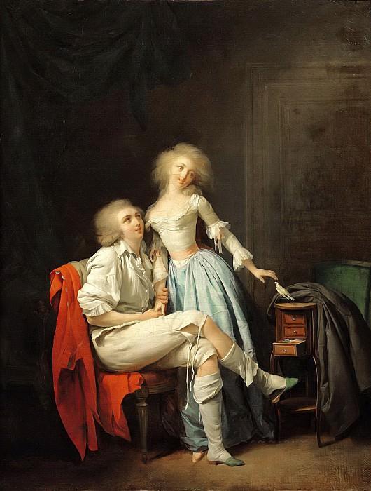 Буальи, Луи-Леопольд (1761 Ла Бассэ - 1845 Париж) -- Парочка с птицей. Part 6 Louvre