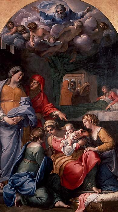 Карраччи, Аннибале (1560 Болонья - 1609 Рим) -- Рождество Марии. Part 6 Louvre