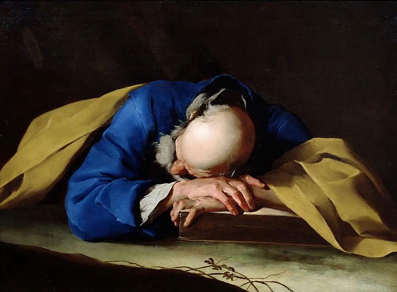 Петрини, Джузеппе Антонио (Карона 1677-1755) -- Спящий святой Петр. Part 6 Louvre