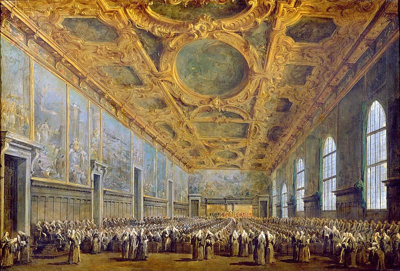 Гварди, Франческо (Венеция 1712-1793) -- Выступление дожа перед Большим Советом. Part 6 Louvre