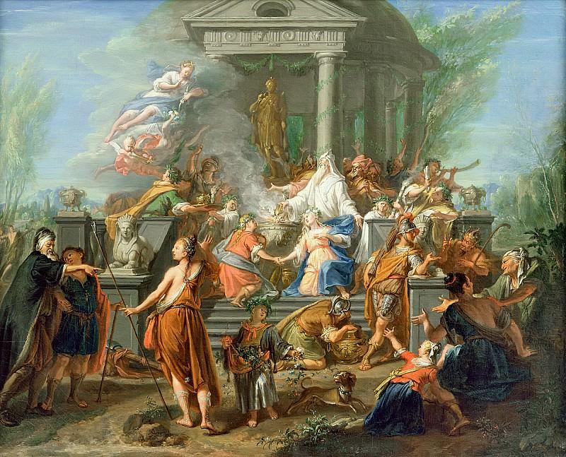 Рор, Жак Игнатиюс де (1686 Антверпен - 1747 Гаага) -- Жертвоприношение Ифигении. Part 6 Louvre