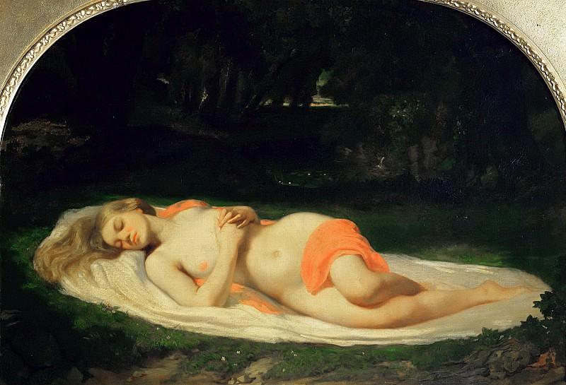 Тисье, Жан-Батист-Анж (1814-1876) -- Спящая нимфа. Part 6 Louvre