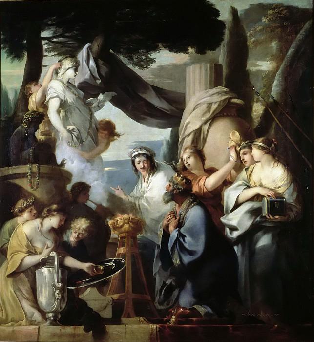 Бурдон, Себастьян (1616 Монпелье - 1671 Париж) -- Царь Соломон, поклоняющийся идолам. часть 6 Лувр