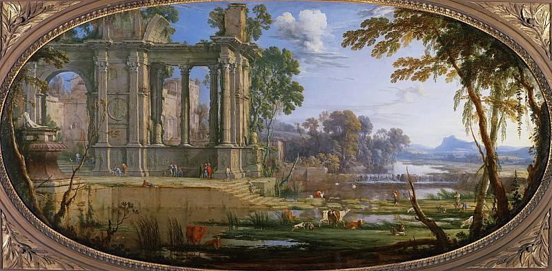 Патель, Пьер I (c.1605 Шони, Пикардия - 1676 Париж) -- Пейзаж с руинами. Part 6 Louvre