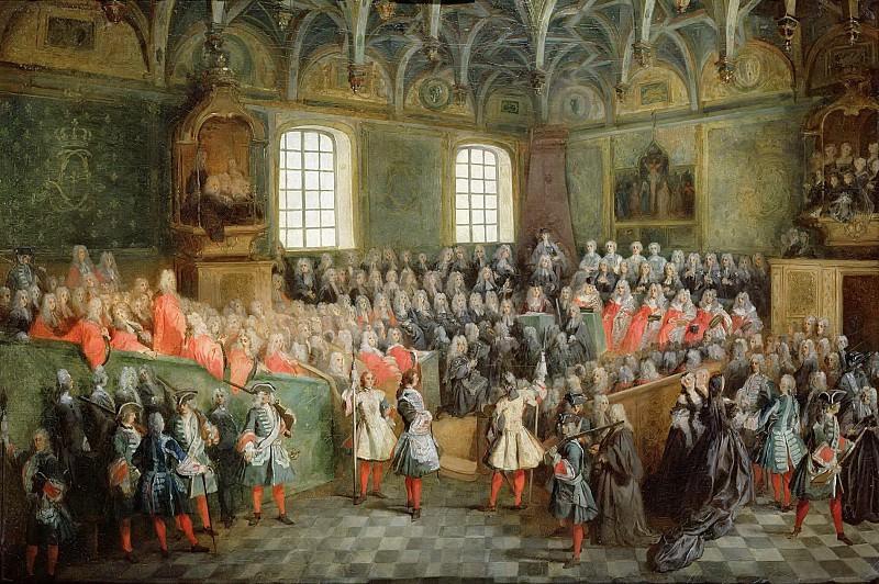 Ланкре, Никола (Париж 1690-1743) -- Палата правосудия в парижском парламенте во время правления Людовика XV. Part 6 Louvre