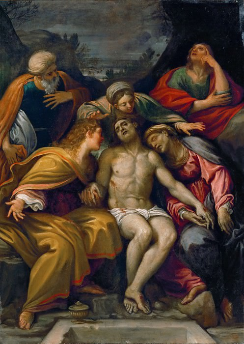 Francesco Albani (1578-1660) -- Lamentation. Part 6 Louvre